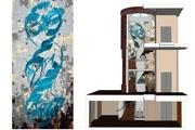 دیوارنگارهای از شهرزاد غفاری هنرمند ایرانی در خانه موزه لیتون لندن