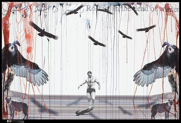 تصویر کشتی گیر(پهلوان)  و رستم  در آثار فریدون آو