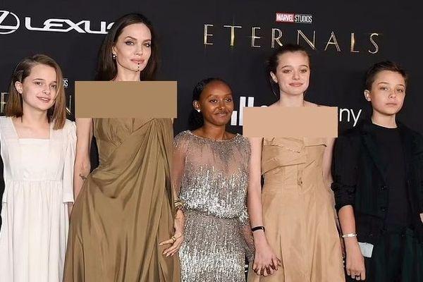 """دختر خوانده آنجلینا جولی کدام لباس مادر را در مراسم افتتاحیه فیلم """"جاودانگان"""" (Eternals) پوشید؟"""