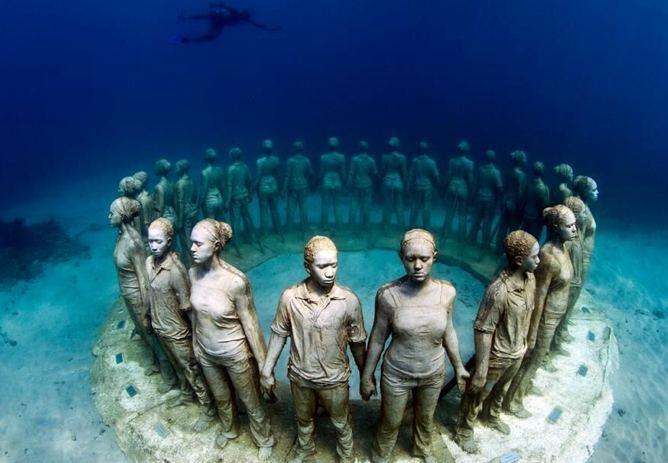 پاییز امسال، فرانسه سه موزه مجسمه در زیر آب افتتاح میکند