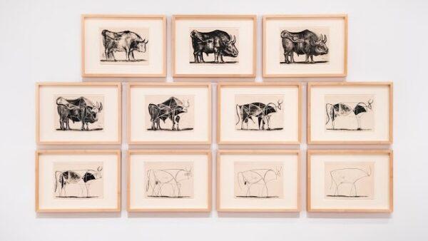 مجموعه لیتوگرافی گاو نر پیکاسو الهام بخش طراحی ساده محصولات شرکت اپل