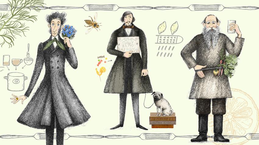 آشپزی به روش نویسندگان کلاسیک روسیه