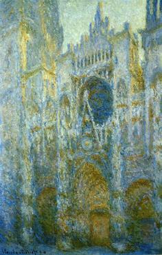 Claude Monet Rouen Cathedral West facade noon