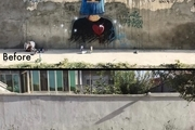 طالبان نقاشی دیواریهای شمسیه حسنی را از دیوارهای کابل پاک کرد