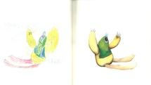 آثاری که با الهام از نقاشیهای دوران کودکی یک هنرمند خلق شدند