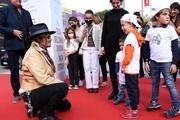 جانی دپ در میان هوادارانش در جشنواره رم ایتالیا