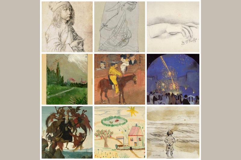 نقاشیهایی از دوران کودکی هنرمندان بزرگ