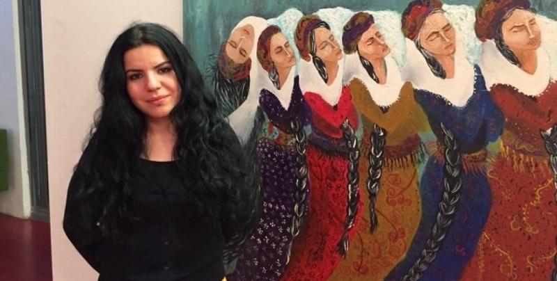 اولین نمایشگاه انفرادی زهرا دوغان هنرمند کرد پس از آزادیاش از زندان در ترکیه