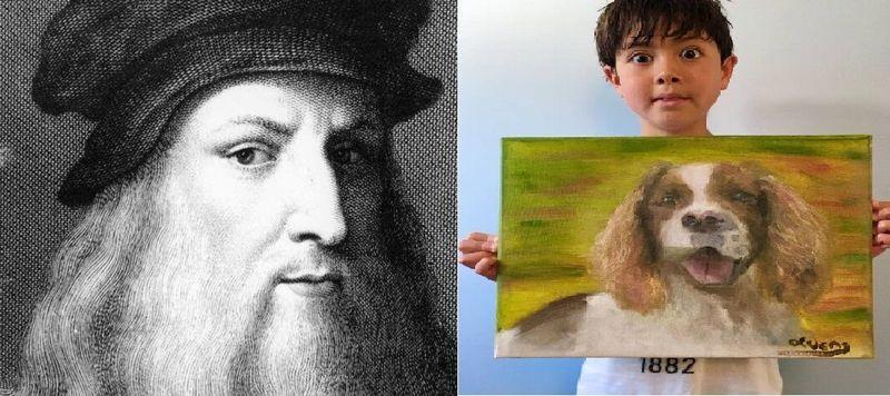 نقاش ۹ ساله صاحب لقب داوینچی معاصر شد